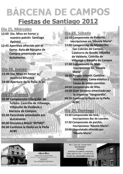 Programa de Fiestas de Santiago 2012