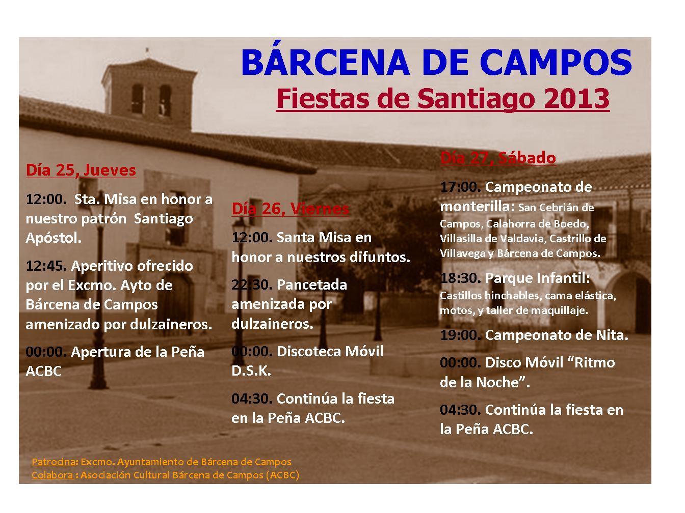 Fiestas Patronales de Santiago Apóstol 2013