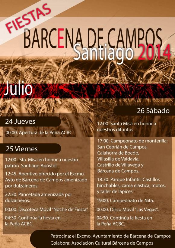 cartel de fiestas barcena2014
